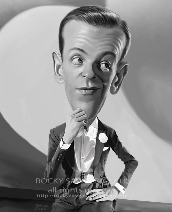 Caricatura de Fred Astaire