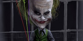 Caricatura de Heath Ledger como Joker