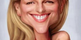 Caricatura de Helen Hunt