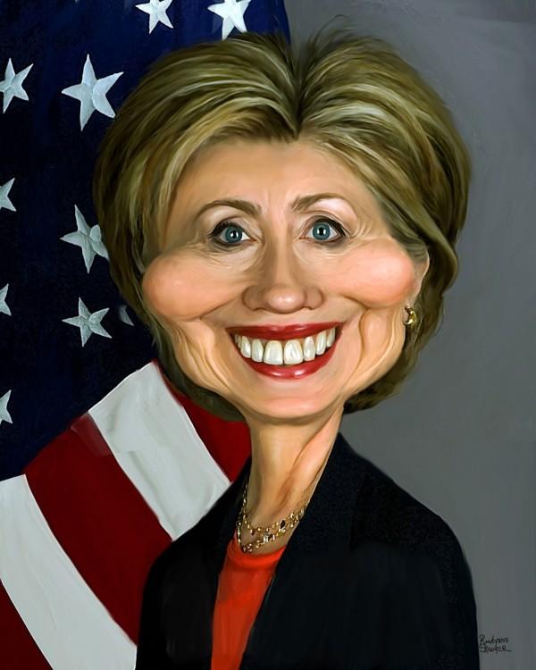 Caricatura de Hillary Clinton