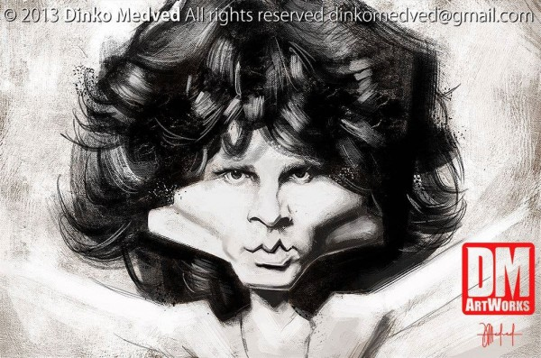 Caricatura de Jim Morrison