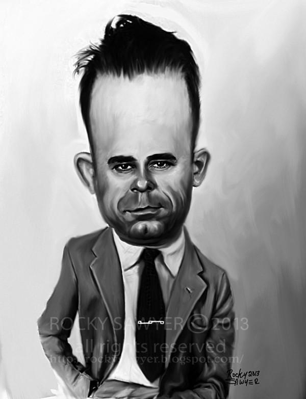 Caricatura de John Dillinger