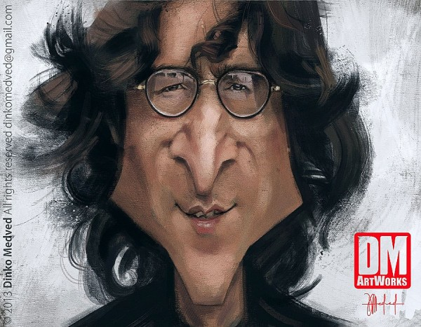Caricatura de John Lennon