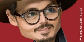 Caricatura de Johnny Depp