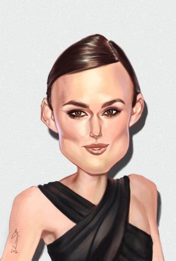 Caricatura de Keira Knightley