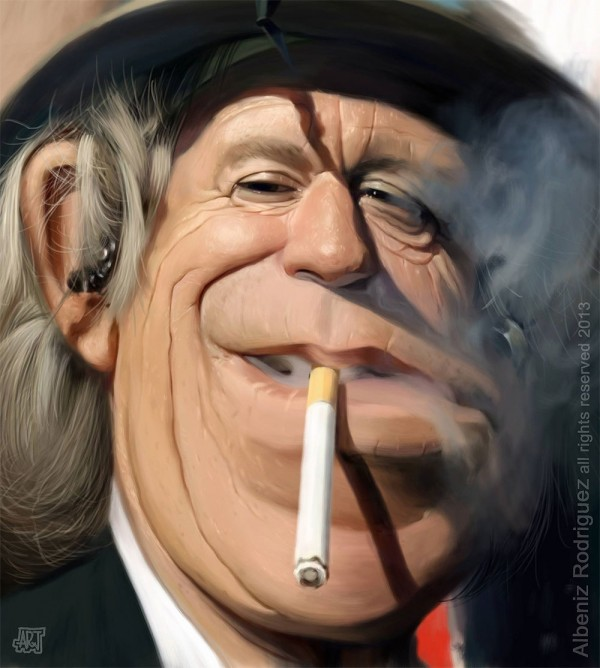 Caricatura de Keith Richards