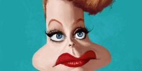 Caricatura de Lucille Ball