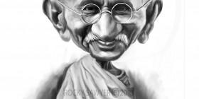 Caricatura de Mahatma Gandhi