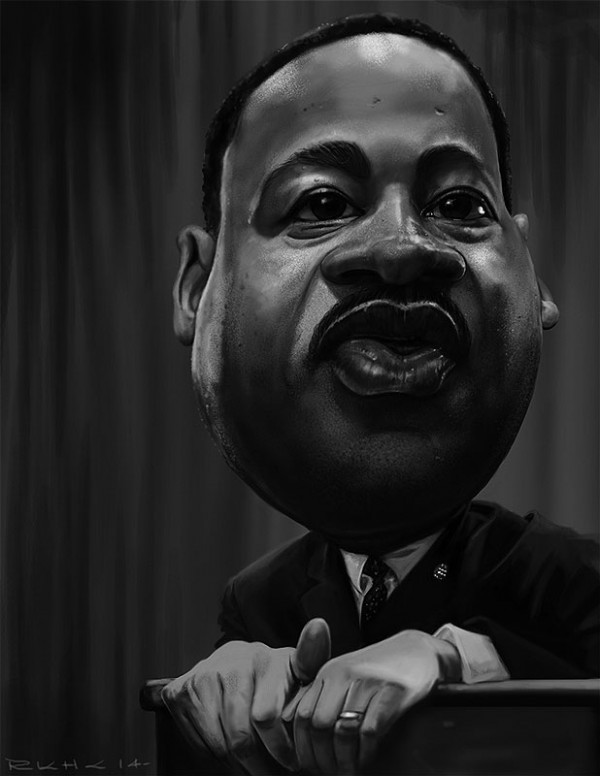 Caricatura de Martin Luther King
