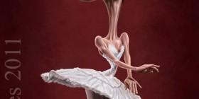 Caricatura de Natalie Portman en Cisne Negro