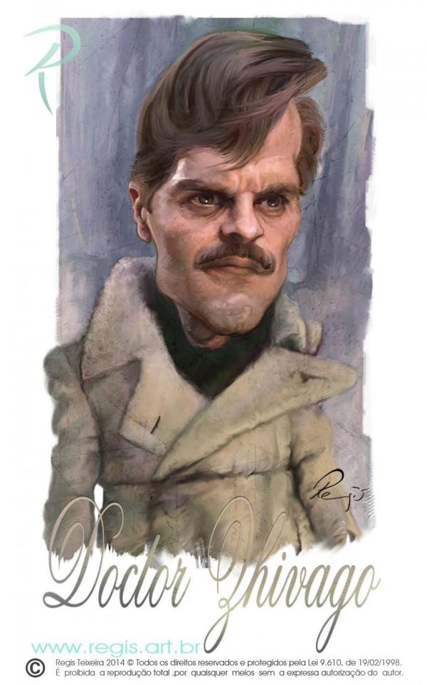 Caricatura de Omar Sharif como Dr. Zhivago
