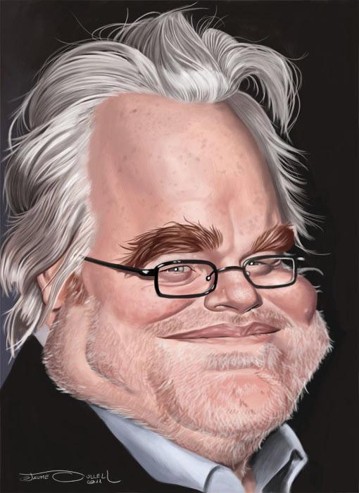 Caricatura de Philip Seymour Hoffman