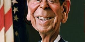 Caricatura de Ronald Reagan