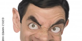 Caricatura de Rowan Atkinson