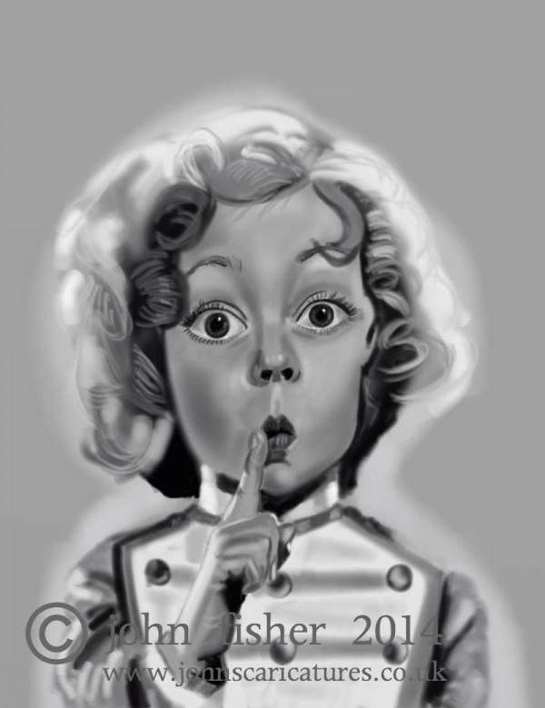 Caricatura de Shirley Temple