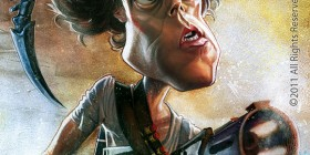 Caricatura de Sigourney Weaver como Ripley