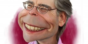 Caricatura de Stephen King