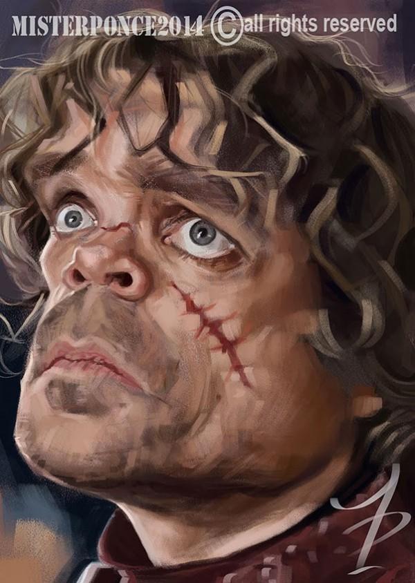 Caricatura de Tyrion Lannister