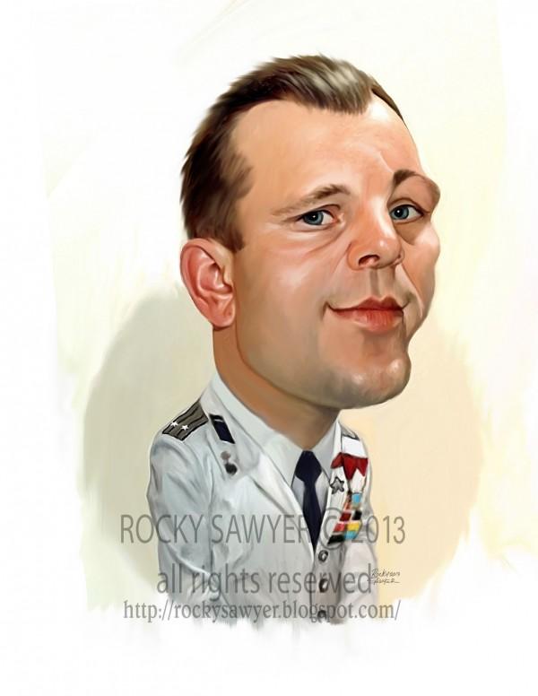 Caricatura de Yuri Gagarin