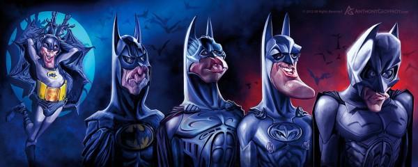 Caricatura de la evolución de Batman