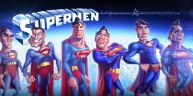 Caricatura de la evolución de Superman