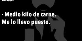 Chistes de Eugenio: Un esqueleto en una carnicería