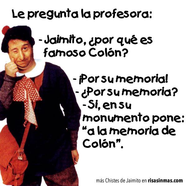 Chistes de Jaimito: Colón
