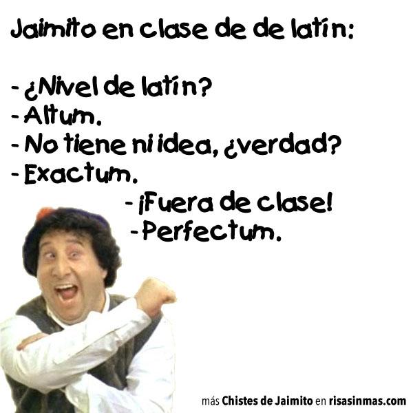 Chistes de Jaimito: ¿Nivel de latín?