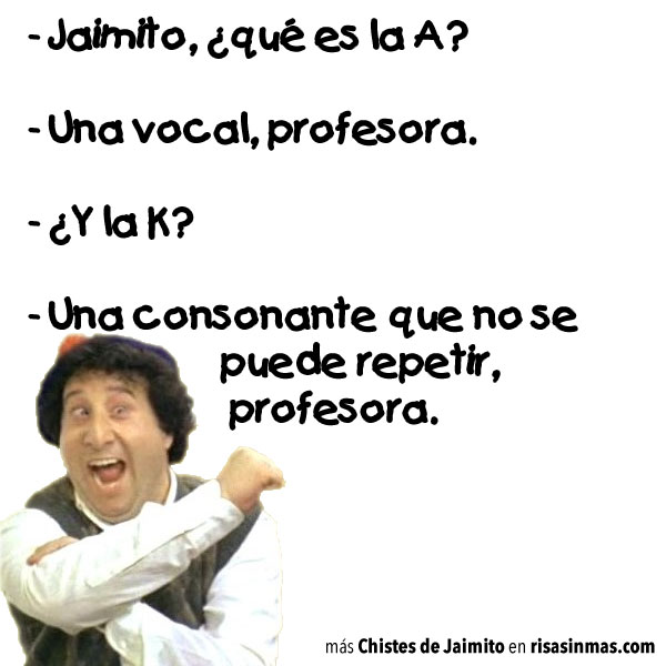 Chistes de Jaimito: Vocales y consonantes