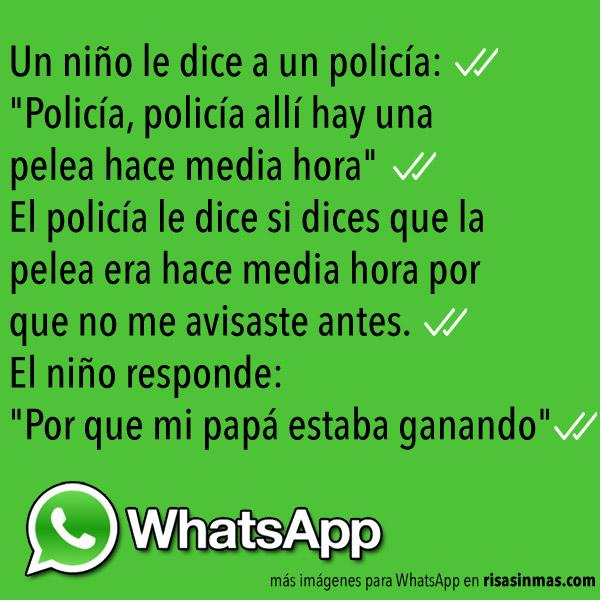 Chistes de WhatsApp: Llamando a la policía