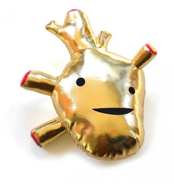 Corazón de Oro de Peluche