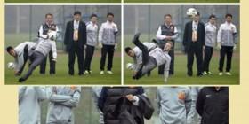 David Beckham marcando de falta directa