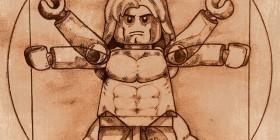 El Hombre de Vitruvio parodia LEGO