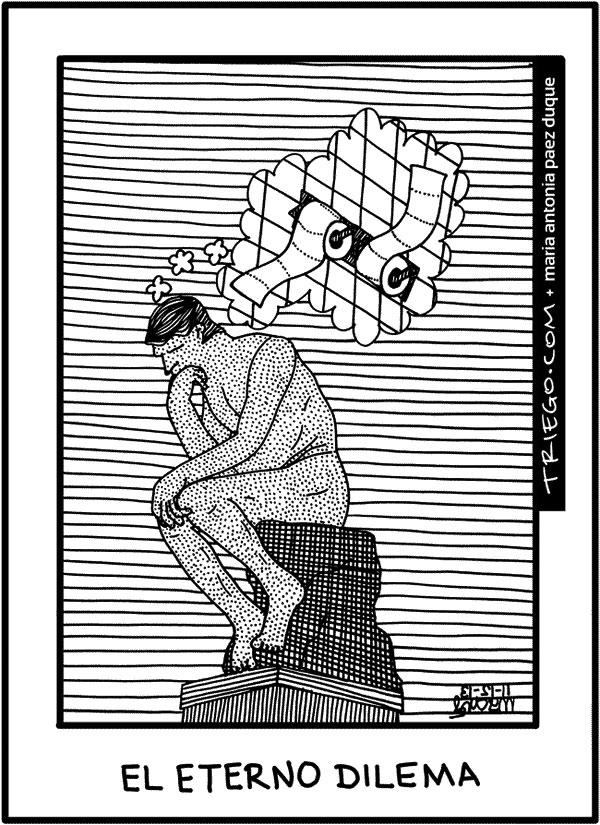 El dilema del Pensador de Rodin
