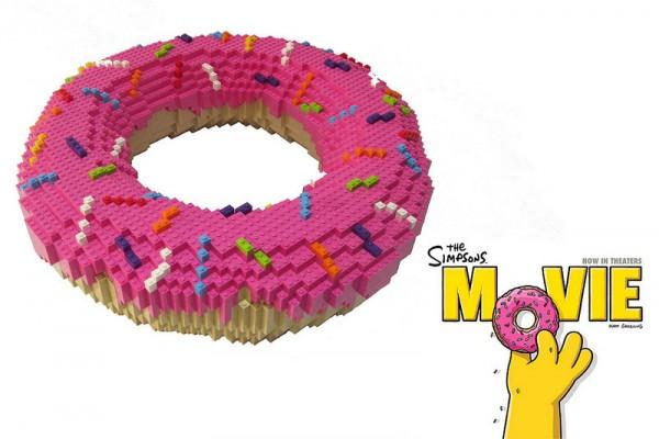 El donut de Los Simpsons hecho con LEGO