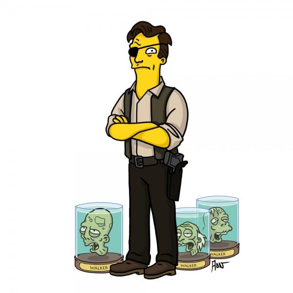 El gobernador Simpsonizado