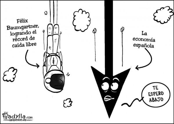 Felix Baumgartner vs. economía española