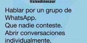 Hablar por un grupo de WhatsApp