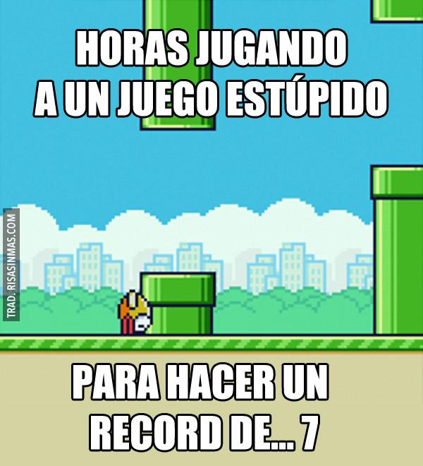 Horas jugando a Flappy Bird