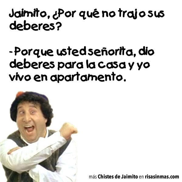 Jaimito vive en un apartamento
