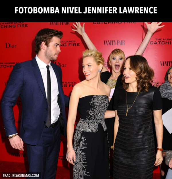 Fotobomba nivel Jennifer Lawrence