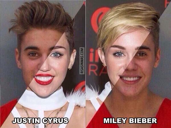 Justin Cyrus y Miley Bieber