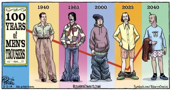 La evolución de los pantalones de hombre