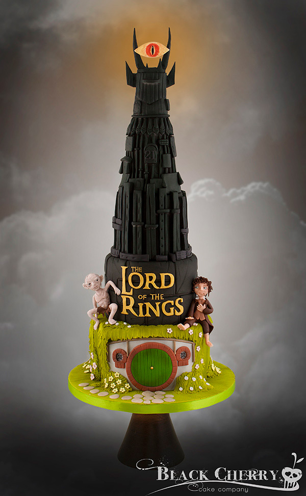 La tarta de El señor de los anillos