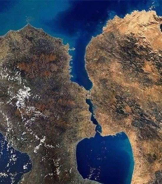Las islas que se besan
