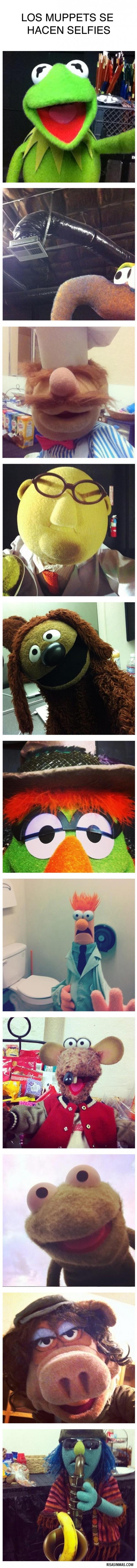 Los Muppets se hacen selfies