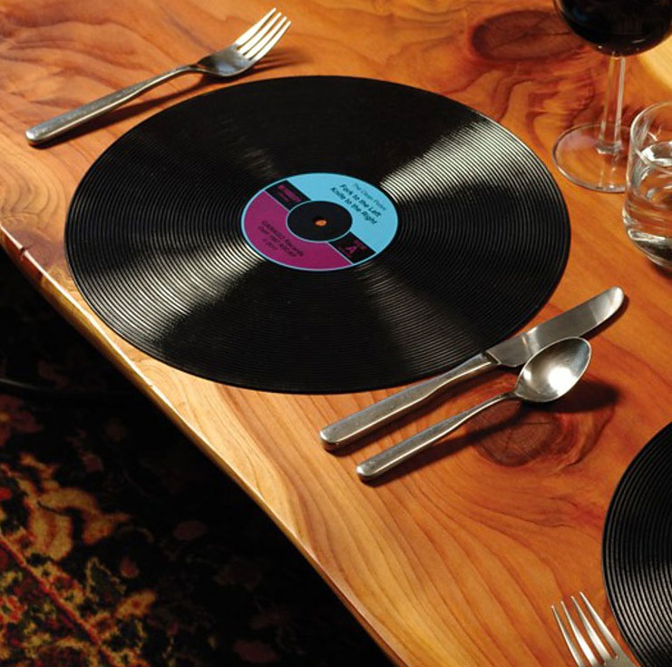 manteles individuales discos de vinilo