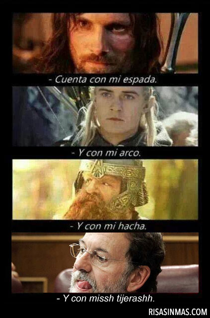Mariano Rajoy en El Señor de los anillos