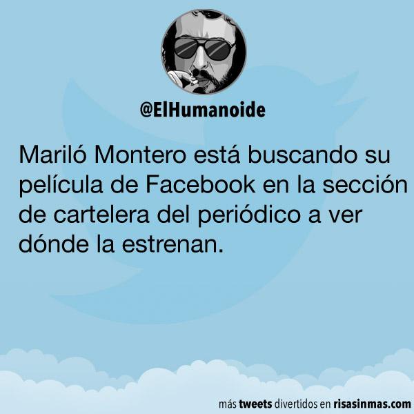 Mariló Montero buscando su película de Facebook