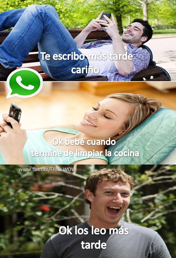 Mark Zuckerberg nos espía el WhatsApp